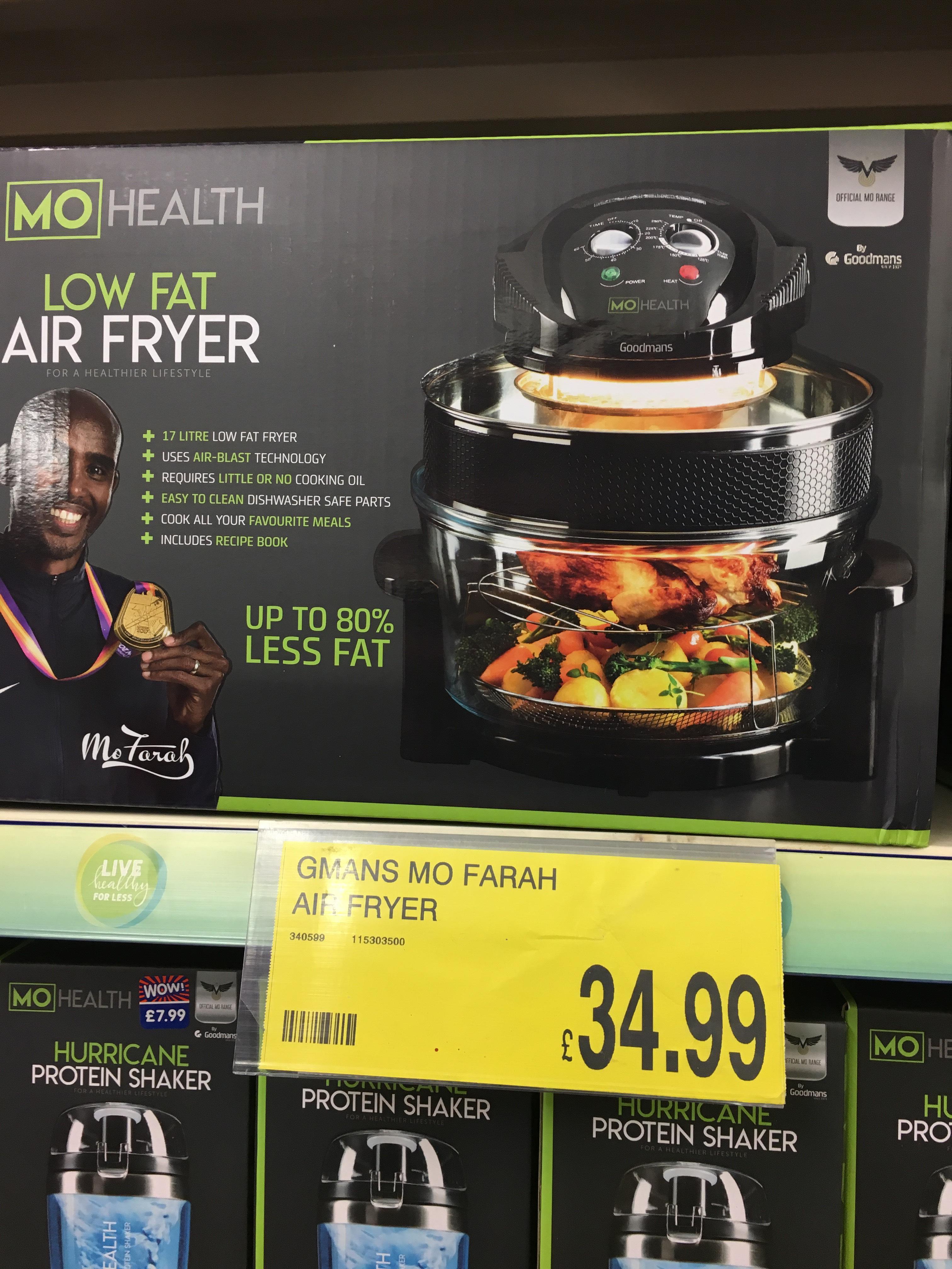 Mo Farah Air Fryer - £34.99 instore @ B&M