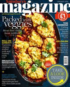 Sainsbury's Magazine January 2019 - £1 instead of £2.50