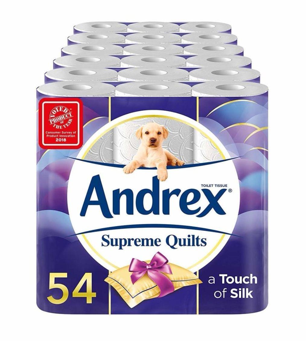 Andrex Supreme Quilts Toilet Tissue 54 Rolls £21 @ Amazon