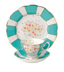 Royal Albert Mint Deco 1930 3-Piece Tea Set  - £52.50, Harrods sale small del charge if your maid can't collect it