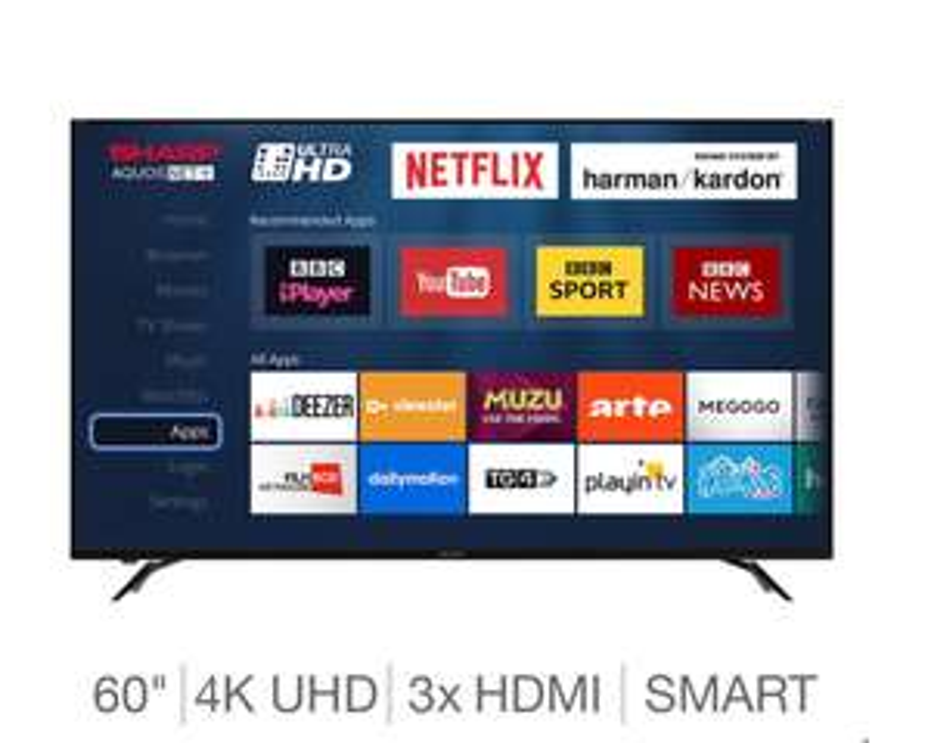 "Sharp 60"" LC-60UI9362K 4K Ultra HD Smart TV £549.99 Delivered @ Costco"