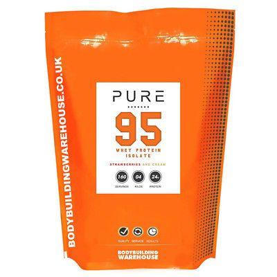 Pure Premium Whey Protein Isolate Powder 95% ISO Zero Lactose & Gluten Free P&P - £17.96 @ eBay / bodybuildingwarehouse