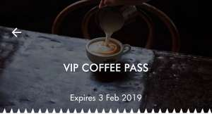 VIP Coffee Pass from Caffè Nero, free drink voucher