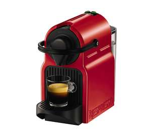 Red Nespresso Krups Inissia machine with 150 capsules and £10 club credit £59.99 @ Currys