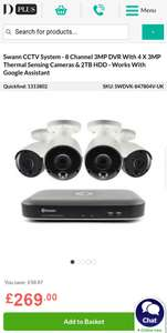 cf47e50c8fdd Swann CCTV System - 8 Channel 3MP DVR With 4 X 3MP Thermal Sensing Cameras &
