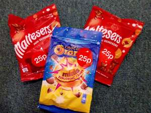 Reduced Christmas Chocolate @ Hobby Craft Terry's Chocolate Orange Exploding Candy 125g 25p and Maltesers Mini Reindeers 59g 25p (In-store)