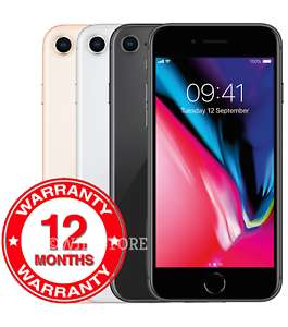 Refurb Apple iPhone 8 - 64GB 256GB Unlocked Smartphone Silver Grey Gold Colours Grades at wjd-store/Ebay from £379.95
