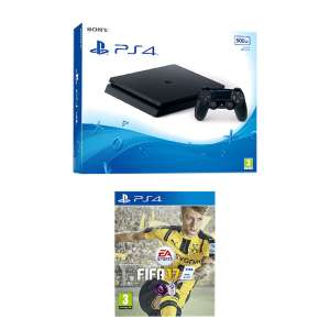 PS4 500GB Slim Console & FIFA 17 Game at Bargain Crazy for £183.99