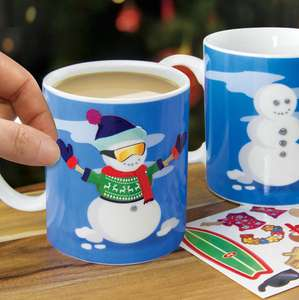 Snowman Dress Up Mug Now 99p Free delivery with £5 spend @ The gift and gadget store