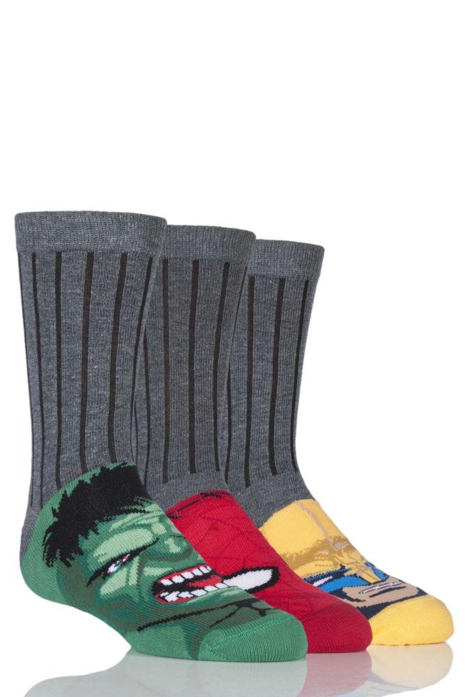 Three pack boys Marvel socks £1.26 / £3.25 delivered @ Sock shop