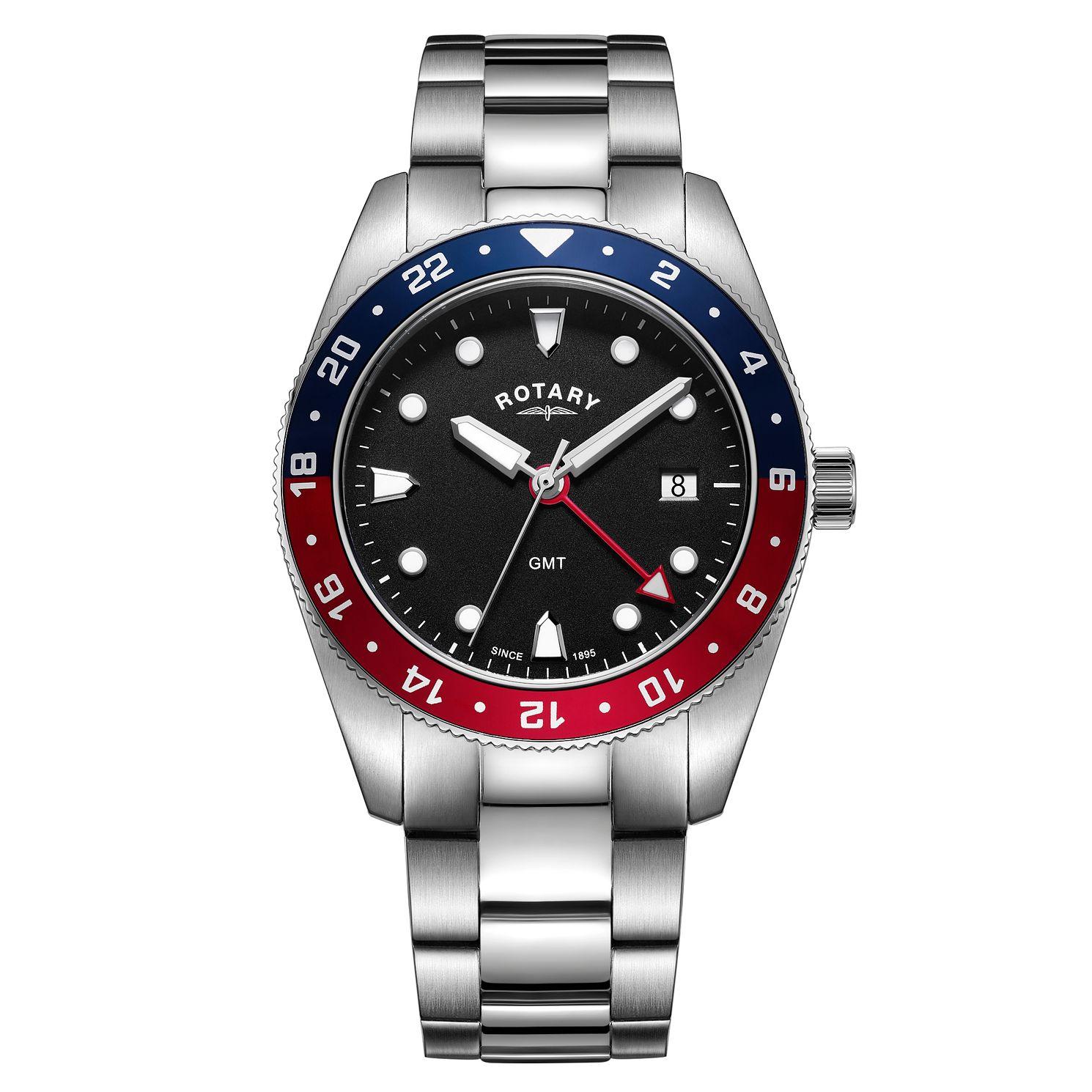 Rotary GMT Men's Stainless Steel Bracelet Watch £99 @ Ernest Jones