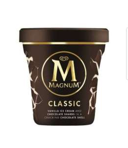 Magnum ice-cream tubs 2 for £2 at Farmfoods
