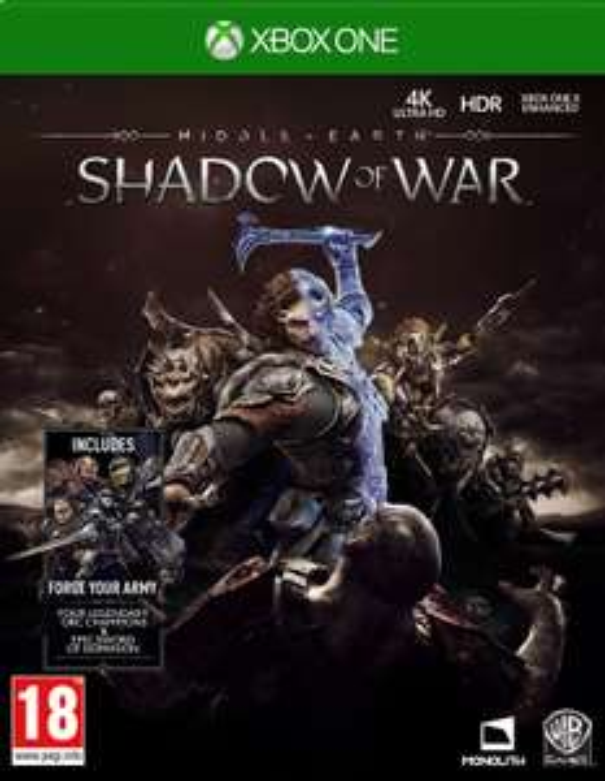 Middle Earth: Shadow of War Inc Champion & Sword DLC [XBox] £9.85 @ ShopTo