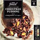 Tesco finest Christmas pudding 907g infused with Rum, Cider, Brandy serves 8 £2