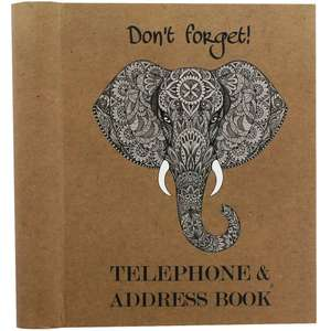 Elephant Dont Forget Telephone and Address Book RRP £10.00 Now £4.00 @ The Works free C&C.