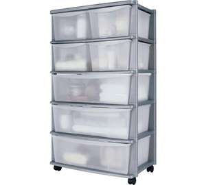 Argos Home 7 Drawer Plastic Tower Storage Unit *Limited Stock & Colours* £26.99