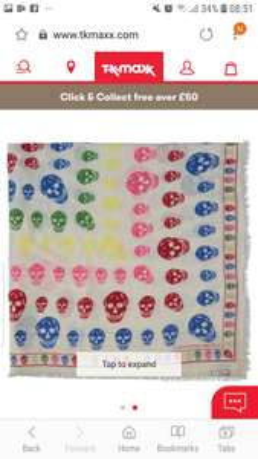 Alexander Mcqueen Skull wool blend scarf  £129.99 TkMaxx