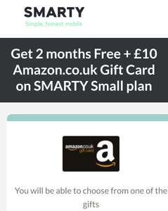 Smarty SIM deal, 2GB & unlimited calls. Effectively 3 months free. Get 2 months free & a £10 Amazon voucher.  Rolling monthly contract.