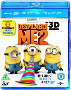 Despicable Me 2 3D + 2D Blu-ray + Digital copy £2.10 prime / £5.09 non prime Amazon (JMBMedia fulfilled by Amazon))