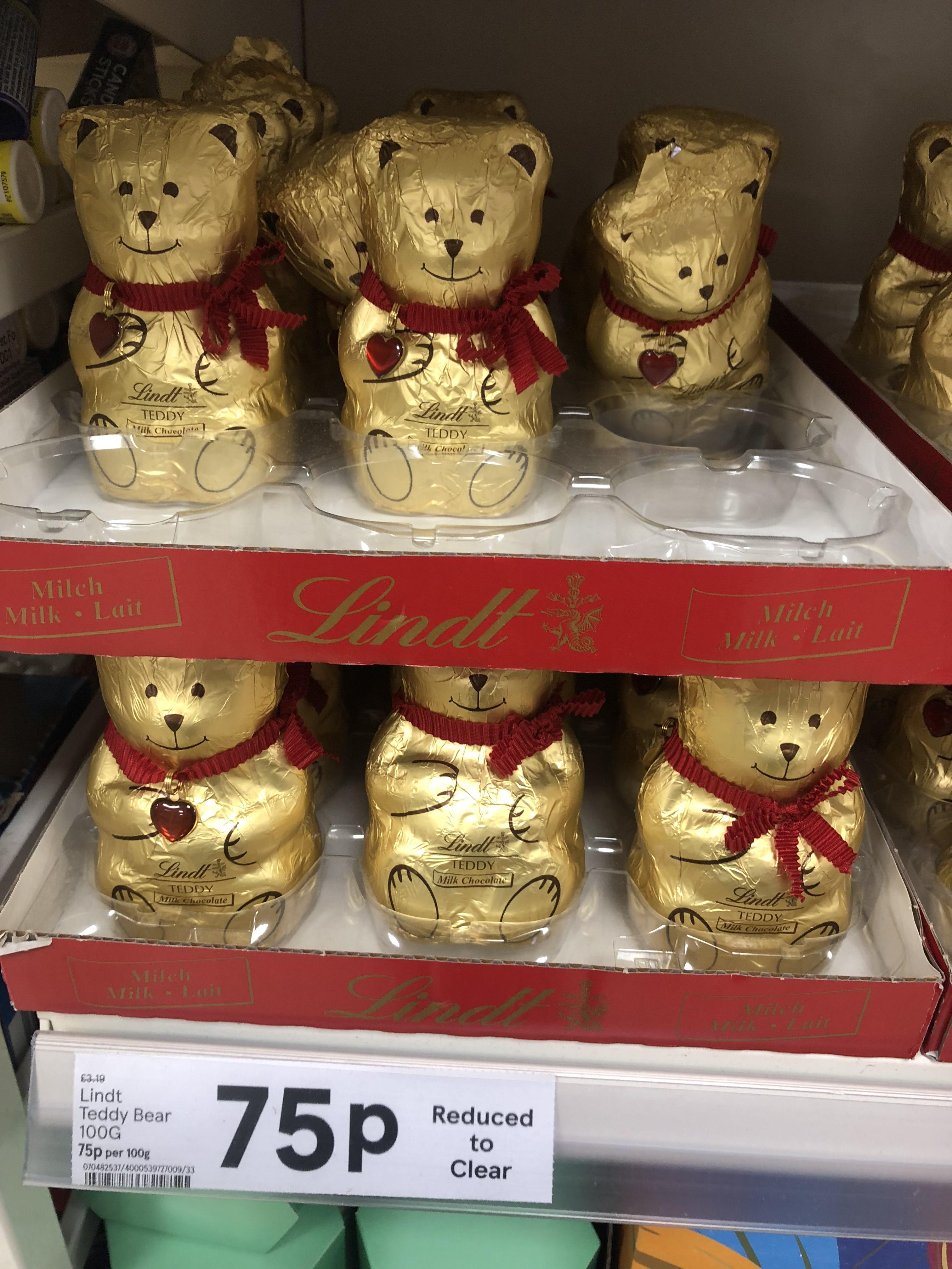 Lindt Teddy Bear 100g 75p - Tesco express instore