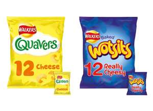 Walkers Quavers or Wotsits Cheese Snacks 12 pack for £1.47 @ Tesco (from 07/01 + Other Snack Offers)