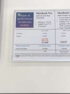 "Apple MacBook Pro 15"" (2015 non Touch Bar) £1100 @ Currys Coventry Ricoh - Was £1749"