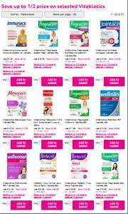 Save up to 1/2 price on selected Vitabiotics @ Superdrug