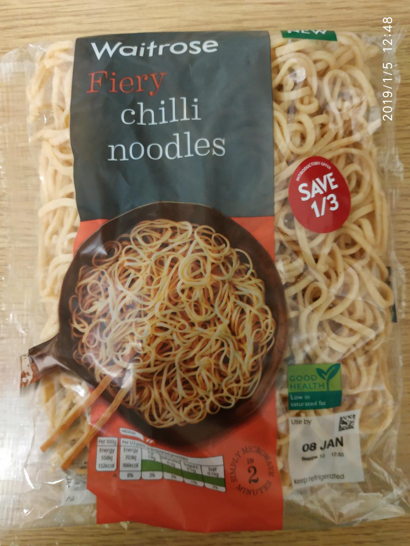 Waitrose & Partners Fiery Chilli Noodles 86p