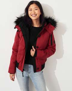 Hollister Ultimate Down Collection - Down Bomber Jacket £49.50 - free del with £50 spend @ Hollister (club cali members)