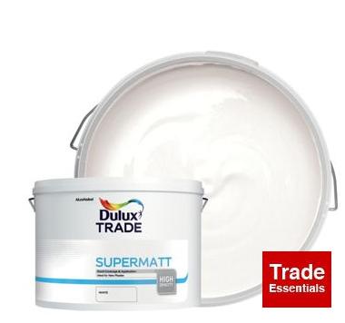 Dulux Trade Supermatt Emulsion Paint - White 10L £37.50 @ Wickes