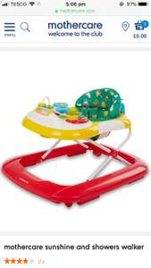 Mothercare sunshine and showers baby walker £25 - Free c&c