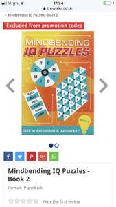 Mindbending IQ Puzzles - Book 2 - 75p @ The Works (Free C&C)