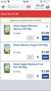 Heinz By Nature fruit pots 2 for £1 @ Tesco