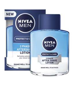 Buy one get one free on selected Nivea - NIVEA MEN 2 Phase Aftershave Lotion Protect & Care, 100ml £5.35 Superdrug
