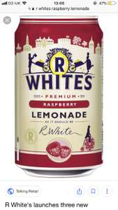 R Whites Raspberry Lemonade 6 cans 99p Home Bargains