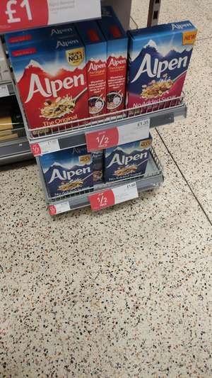Alpen original and no added sugar for £1.60 at COOP