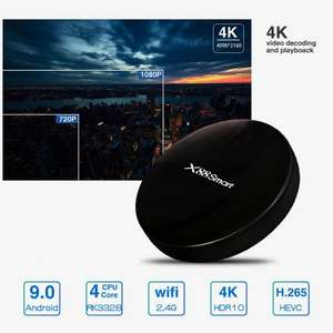 X88 Smart 4K TV Box 4GB+32GB RK3328 Android 9.0 @ Zapals.com
