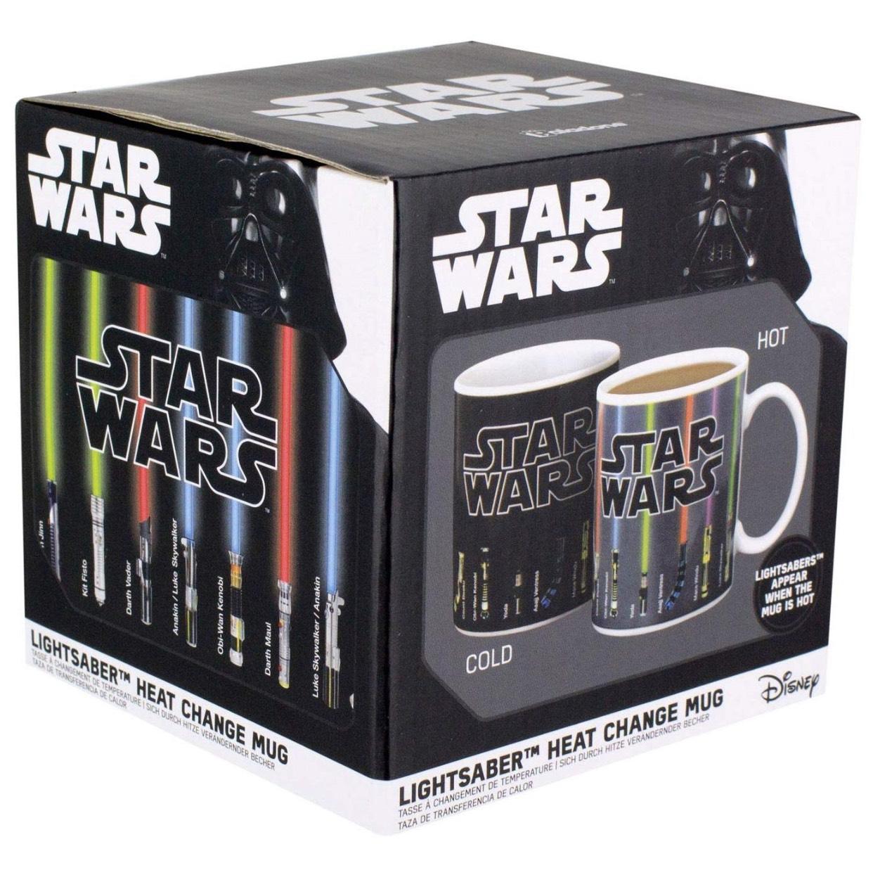 Star Wars Lightsaber Heat Change Mug, Porcelain Multi 10.5 x 10 x 10.5 cm @ Amazon £3 Prime £7.49 Non Prime