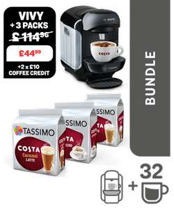 Tassimo VIVY2 machine + 3 packs (White or Black machines) £44.99 @ Tassimo (Can get it for £34.99 see description for info)