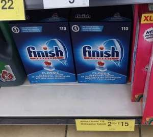 Finish Classic Powerball Dishwasher tablets 2 x 110 tablets for £15 @ Farmfoods