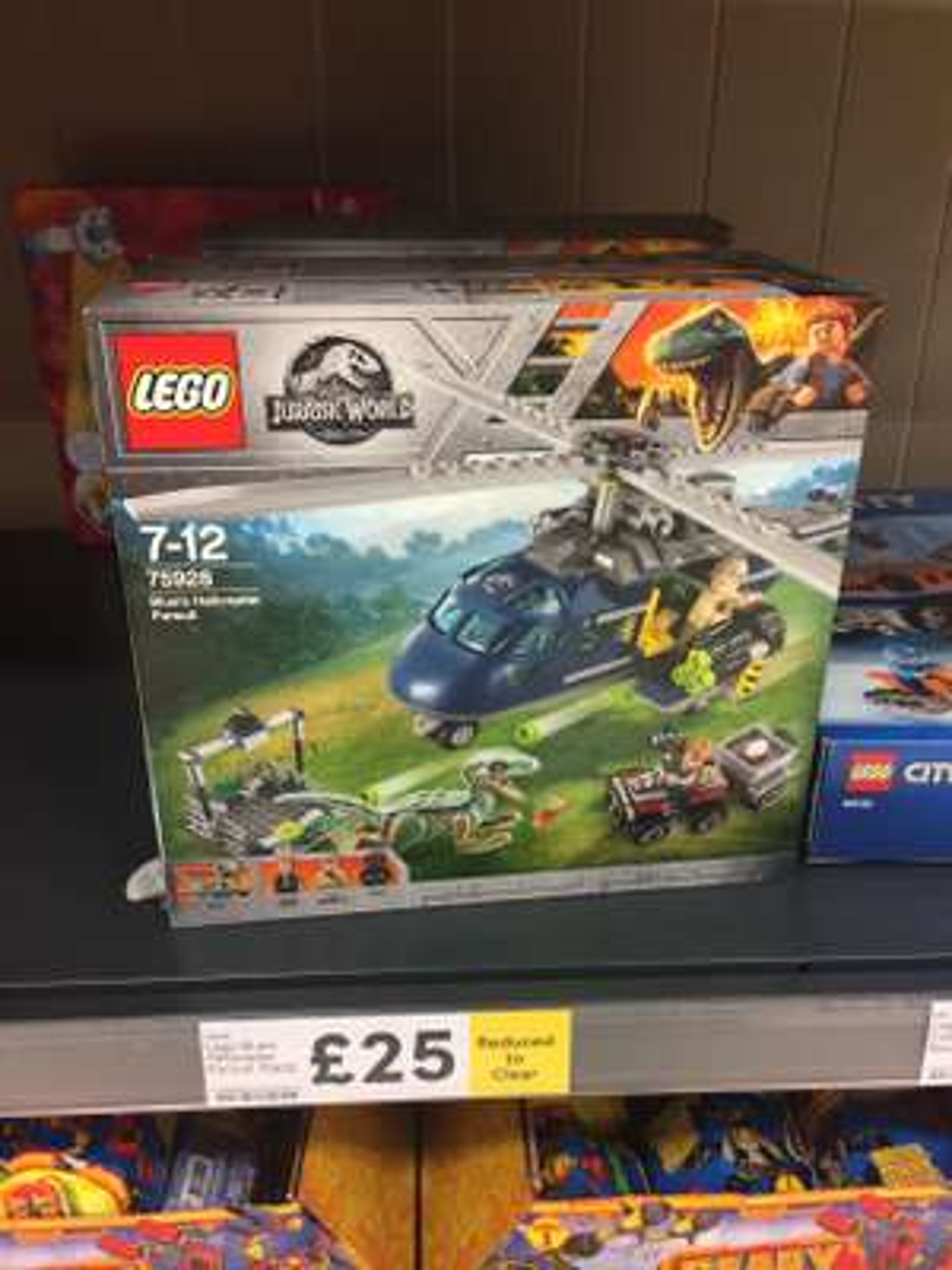 Lego 75928 Jurassic World Blue's Helicopter Pursuit - £25 instore @ Tesco