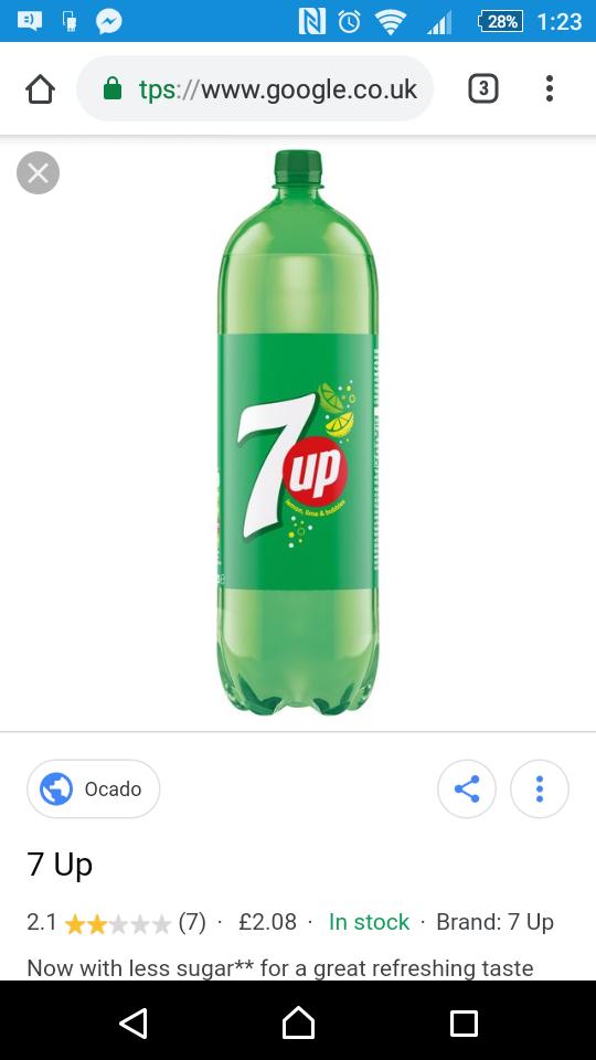 7up 2ltr bottle only £1 at Premier stores