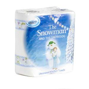 Nicky The Snowman and the Snowdog Kitchen Roll Decorated x2 Rolls for 50p @ Wilko