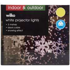 Wilko White Snowflake Christmas Projector Lights - £6.00 (Free C&C)