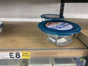Pyrex 3 pack bowls with lids £8 instore @ Tesco - Malden