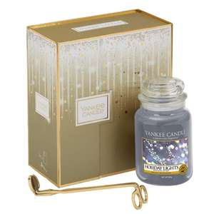 Yankee Candle Holiday Lights gift set large jar with wick trimmer now £15 + £2.99 P&P £17.99 delivered @ Temptation Gifts