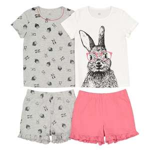 22be4082d3edde Pack of 2 Bunny Rabbit Pyjamas (was £19) Now £7.60   Hooded
