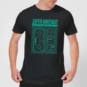 Super Nintendo Tee Of The Week (Mens & Womens) £8.99 Delivered @ My Geek Box