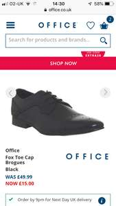 Men's fox brogues and desert boots £12 delivered form office shoes app with code extra20 black / choc / tan leather @ Office shoes