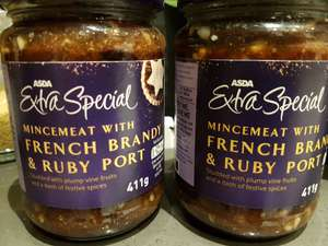 Asda extra special mincemeat with French brandy and ruby port 40p
